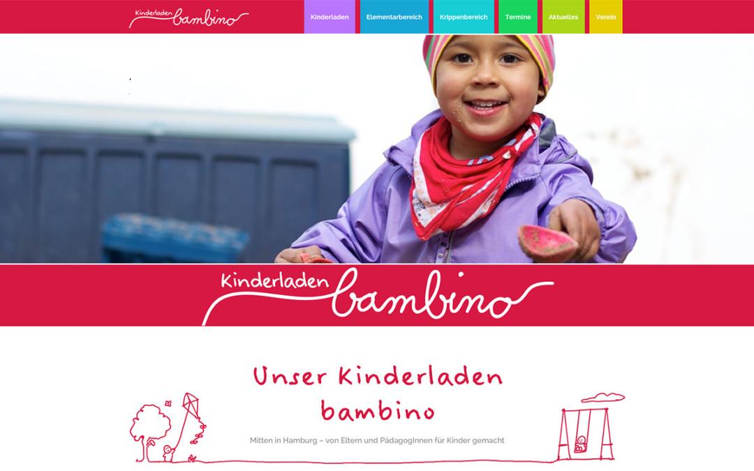 Ein besondere Freude: Neue Website für den Kinderladen bambino