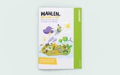"""""""Wahlen, das Klima und wir"""": Neues Bildungsmaterial von Greenpeace"""